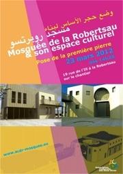 Pose de la première pierre à la Mosquée de la Robertsau