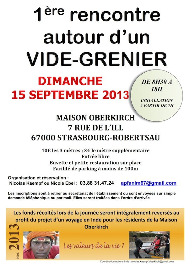 Vide greniers la maison oberkirch for Articles pour la maison