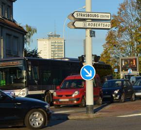 Carrefour Papeterie - Wantzenau : le carrefour de tous les dangers pour les cyclistes