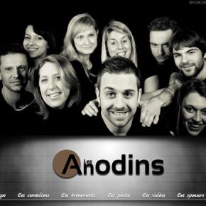 La troupe des Anodins à l'Escale