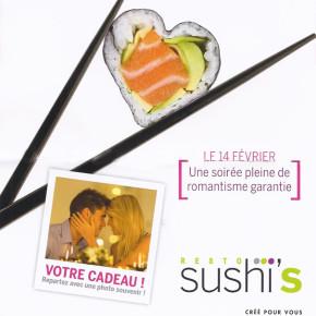 L'amour est à prendre avec les baguettes chez Sushi's