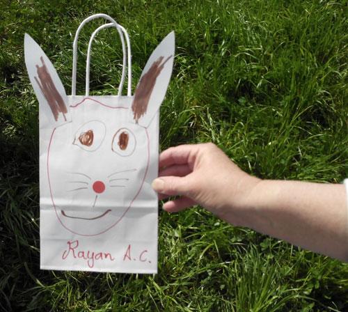 ...décorer le sac à friandises