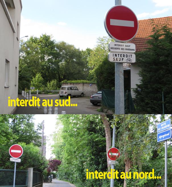 Une piste cyclable là où les voitures sont interdites, c'est moins compliqué que rue Boecklin ou route de la Wantzenau !