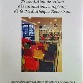 Présentation de la saison 2014/2015 et des liseuses numériques à la médiathèque de la Robertsau