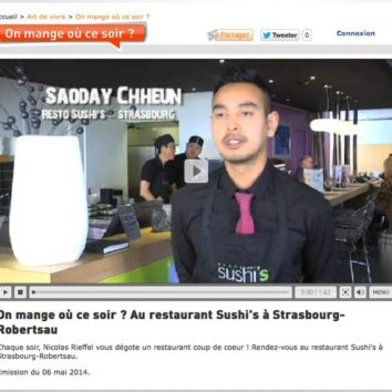 Alsace 20 met Sushi's à l'antenne