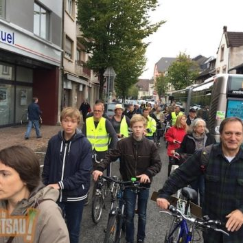 4ème vélorution à la Robertsau : y a-t-il quelqu'un pour entendre les cyclistes et les piétons ?