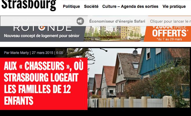 Rue89 Strasbourg : focus sur la Cité des Chasseurs et Joncs