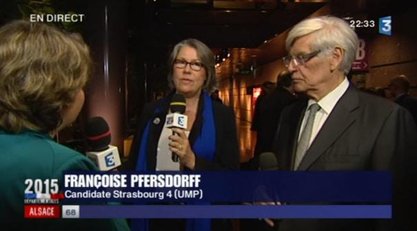 Françoise Pfersdorff et Yves Le Tallec nouveaux conseillers départementaux du canton Strasbourg 4