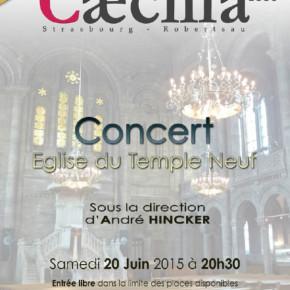 Concerts de fin d'année de l'Harmonie Cæcilia