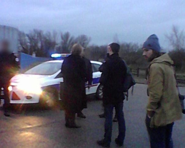 La police interdit aux riverains de passer