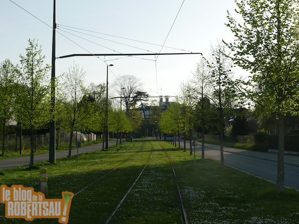 fin de la ligne de tram de la Robertsau