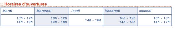 horaire médiathèque_robertsau