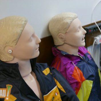 Les sauveteurs secouristes de la Robertsau initient à l'utilisation du défibrillateur