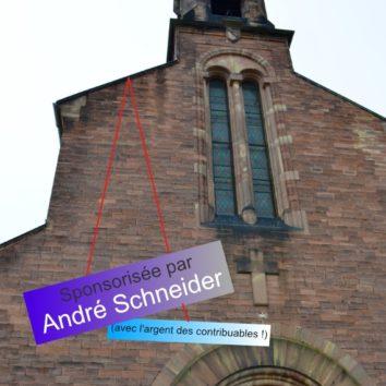 André Schneider sponsor officiel de la paroisse St Louis (avec votre argent !)