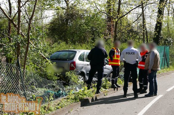 Spectaculaire accident chemin Goeb