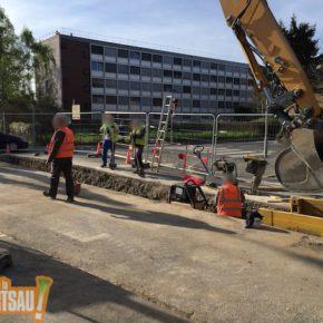 Chemin du Doernelbruck : les travaux ont commencé et débordent sur la route de la Wantzenau