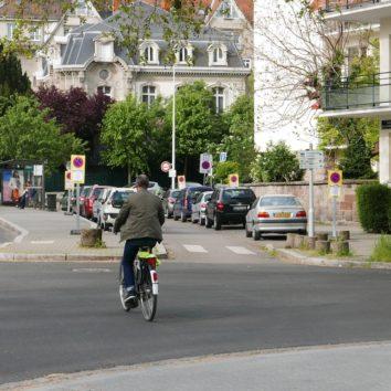 Il est impossible de rejoindre la place Kléber depuis la Robertsau uniquement sur des pistes cyclables