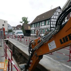 Travaux route de la Wantzenau : pose de l'enrobé et déviation