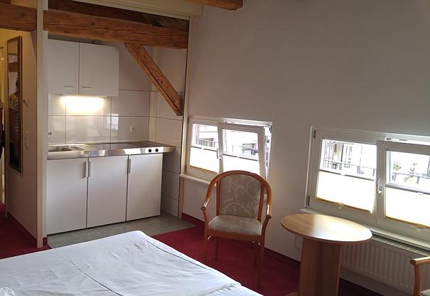 Certaines chambres sont équipées de kitchenettes