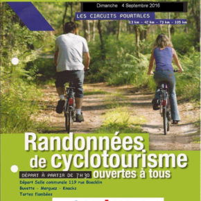 Randonnées de cyclotourisme le 4 septembre