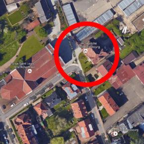 Selon Google Maps, l'archevêché de Strasbourg est à la Robertsau