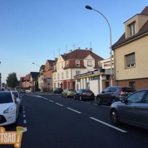 Route de la Wantzenau : toute belle, mais uniquement pour la voiture