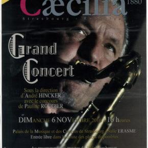 Grand concert 2016 de l'Harmonie Cæcilia le 6 novembre