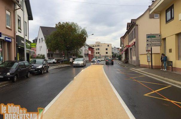 Nouveau terre-plein route de la Wantzenau