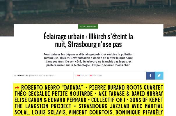 Éclairage urbain : l'exemple d'Illkirch