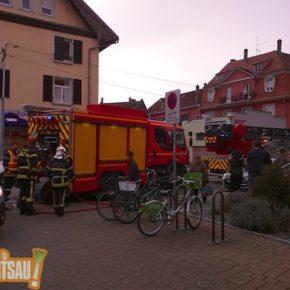 Les pompiers rue Charles de Foucauld