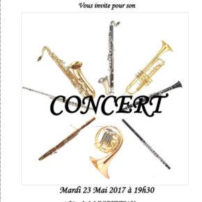 Concert de l'école de musique de l'harmonie Cæcilia de la Robertsau