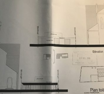 Un permis de construire pour la maison paroissiale signé Alain Jund