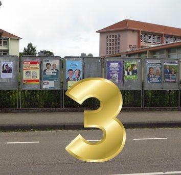 Les « 3 d'or » récompensent les meilleures affiches électorales de la circo !