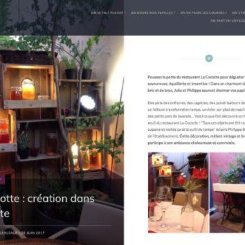 La Cocotte à l'honneur sur le blog On se régale