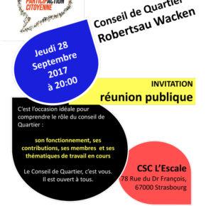 Réunion plénière du Conseil de quartier de la Robertsau