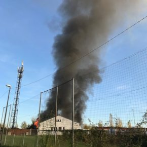 Incendie au Port du Rhin