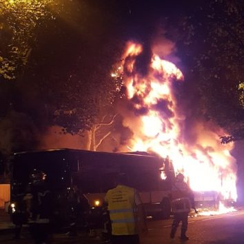 [Vidéo] Incendie d'un bus CTS rue Boecklin