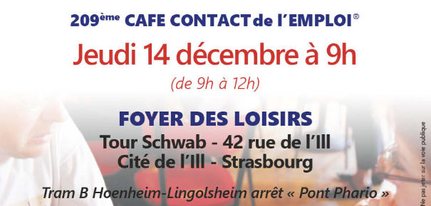 Café contact de l'emploi le 14 décembre à 9h
