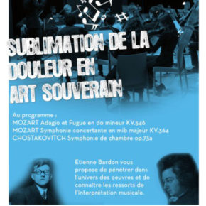 "Ensemble instrumental Volutes : ""Sublimation de la douleur en art souverain"""