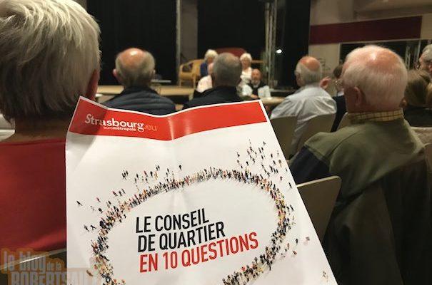 Conseil de quartier de la Robertsau : J'voudrais bien, mais j'peux point !