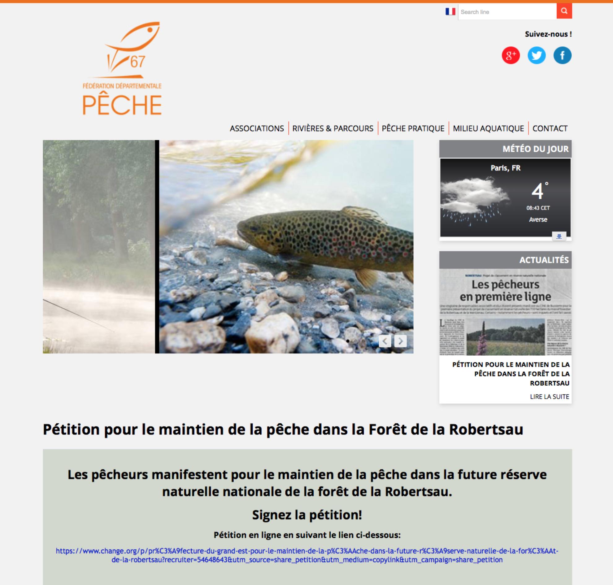 Carte Halieutique Alsace.Reserve Naturelle De La Robertsau Les Pecheurs Petionnent