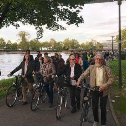 Berges du bassin de l'Ill : nouvelle manifestation des cyclistes et des piétons