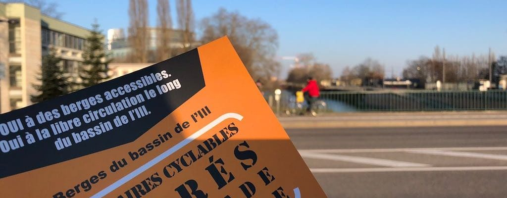 Berges de l'Europe : Distribution de tracts par grand froid