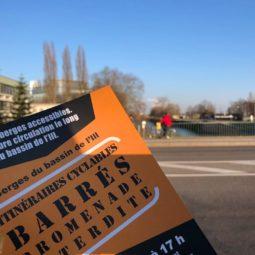Berges de l'Europe : Distribution de tracts par grand froid