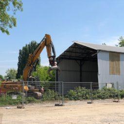Démolition du hangar LANA
