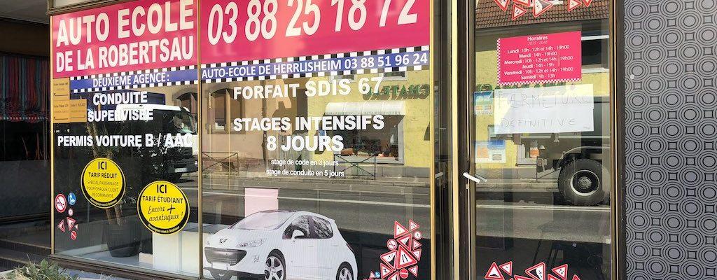 Auto-école de la Robertsau : sortie de route
