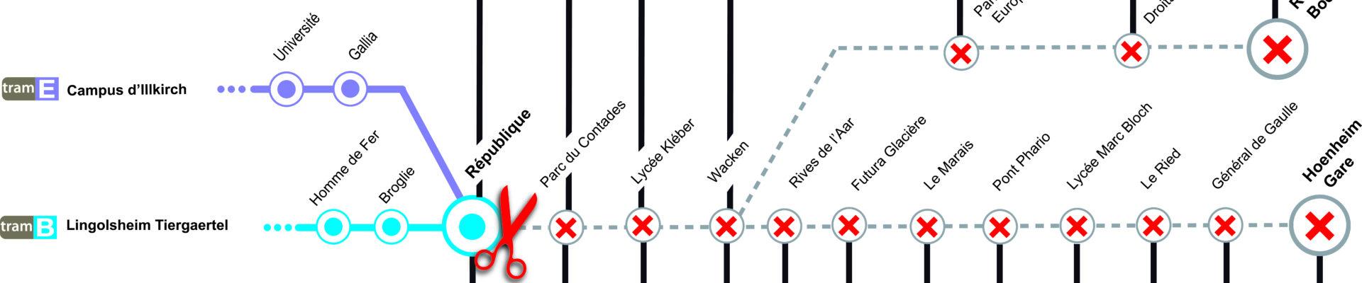Travaux noctunes sur la ligne B et E