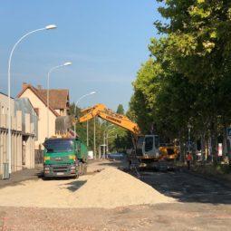 Travaux rue de l'Ill :  pour l'instant ça va (sauf pour les vélos)