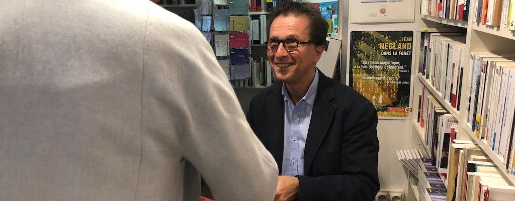 Arnault Pfersdorff dédicace son dernier roman à la Wantzenau