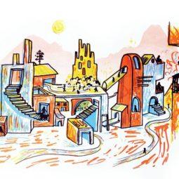 Cours d'arts plastiques à l'Escale pour les enfants